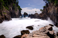 A small inlet named Karang Gigi (Rock's Teeth) with crashing waves