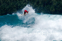 Surfing in Lagundri Bay, Nias Island, Sumatra, Indonesia