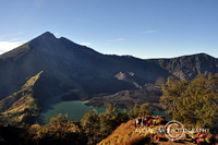 Camp on the slope of Mt Rinjani