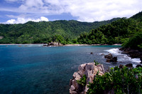 The green Sumatran rainforest and a hidden beach, Lampung