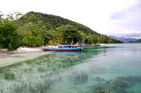 Crystal clear water of Pahawang Cuku Bedil Beach, Pahawang Besar