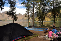Rinjani, camp on Segara Anak Lake