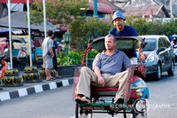 Unique Experience With Becak (Indonesian rickshaw) at Malioboro,