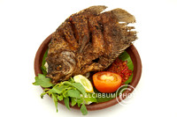 Delicious Fried Fish with Sambal Sauce