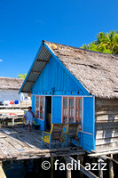 Fisherman Stilt House on The Sea Water,  Ampana Kota, Sulawesi, Indonesia