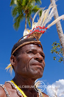 The Papuan With Traditional Costum at Raja Ampat Festival, Raja