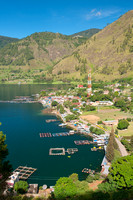 A Great Lake Toba Landscape Seen From Above