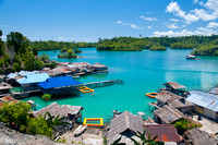 Amazing View of Togean Island With Blue Clear Sea Water, Sulawesi