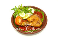 Delicious Traditional Fried Chicken with Sambal Sauce