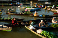 The Traditional Floating Market in Banjarmasin, South Kalimantan