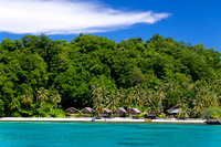 Amazing View of Togean Island With Blue Clear Sea Water, Sulawes