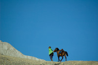 Tenggerese With His Horse around Mount Bromo, Indonesia