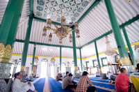 Inside the grand mosque of Palembang