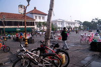 Fatahillah Square and Cafe Batavia in Jakarta's old city