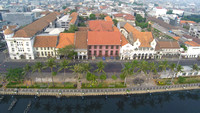 Jakarta's ancient business district, aerial view