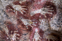 Cave Painting of Sumpang Bita Cave, Pangkep, South Sulawesi.