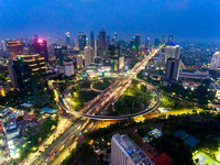 New Face and New Icon of Jakarta at Blue Hour