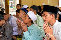 Muslims Pray Together in the Mosque, Indonesia
