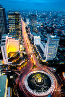 Wonderful Bundaran Hotel Indonesia Seen From Above, Jakarta, Ind