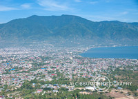 The Aerial View of Palu City, Indonesia