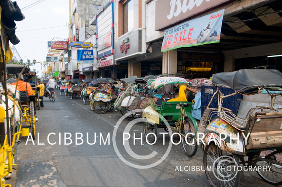 Malioboro The Major Shopping Street in Yogyakarta, Indonesia