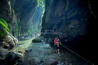 Adventure in Indonesia: traverse the bottom of Majalengka's grand canyon.