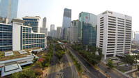 Sudirman, the Jakarta's main business district