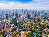 Jakarta in a Super Bright Day with Its New Icon