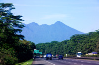 Beautiful View of Mount Salak From Tol Jagorawi, Bogor