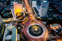 Wonderful Bundaran Hotel Indonesia Senn From Above, Jakarta, Ind
