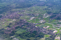 Aerial view of Malang's suburban
