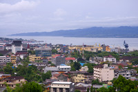 Ambon city from above